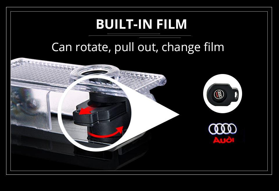 For Audi Car Door LED Welcome Light Audi Logo Projector Courtesy Lights ambient light Car Styling Clarity Soft Decorative light (10)
