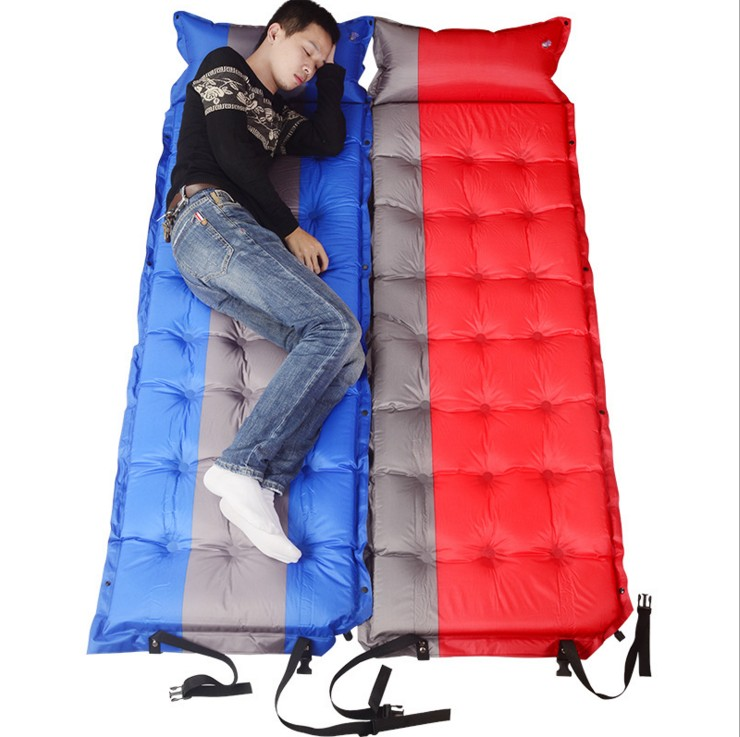 ФОТО 193*65*5cm outdoor tent sleeping bag Automatic inflatable cushion Single thickening 5cm Moisture-proof mat Can be spliced