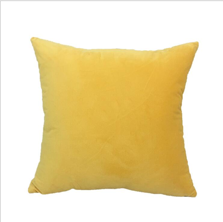 Square Cushion Cover 45x45cm Yellow Pillow Cover Fathers Day Cushions Home Decor Throw Pillows Decoration Home Nordic