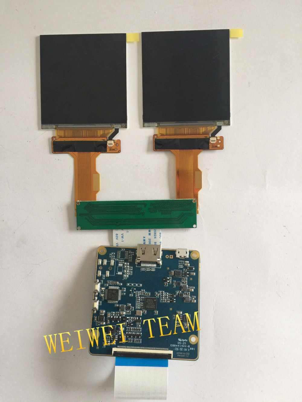 2 9 inch 1440*1440 2K TFT LCD MIPI screen with HDMI to MIPI Dsi driver  board for HMD VR AR project