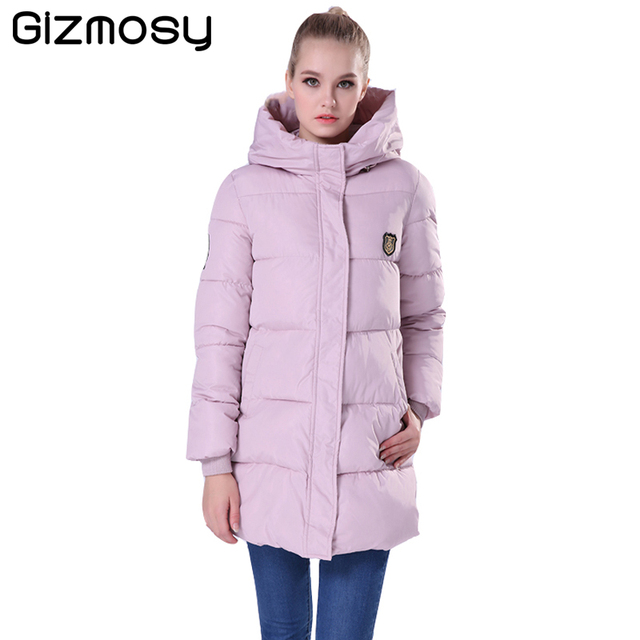 2017 New Women Winter Coat Thick Cotton Winter Jacket Womens Outerwear Plus Size Long Hooded Parkas for Women Winter BN020