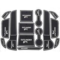 Для Mitsubishi Outlander 2013 2014 2015 2016 Интимные аксессуары 3D резиновые Коврики Нескользящие Коврики подкладке дверь Кубок Pad Коврики 14 pcsOriginal