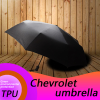 for Chevrolet auto mobile automatic folding umbrella Chevrolet logo car printing pattern sunshine automobile accessories