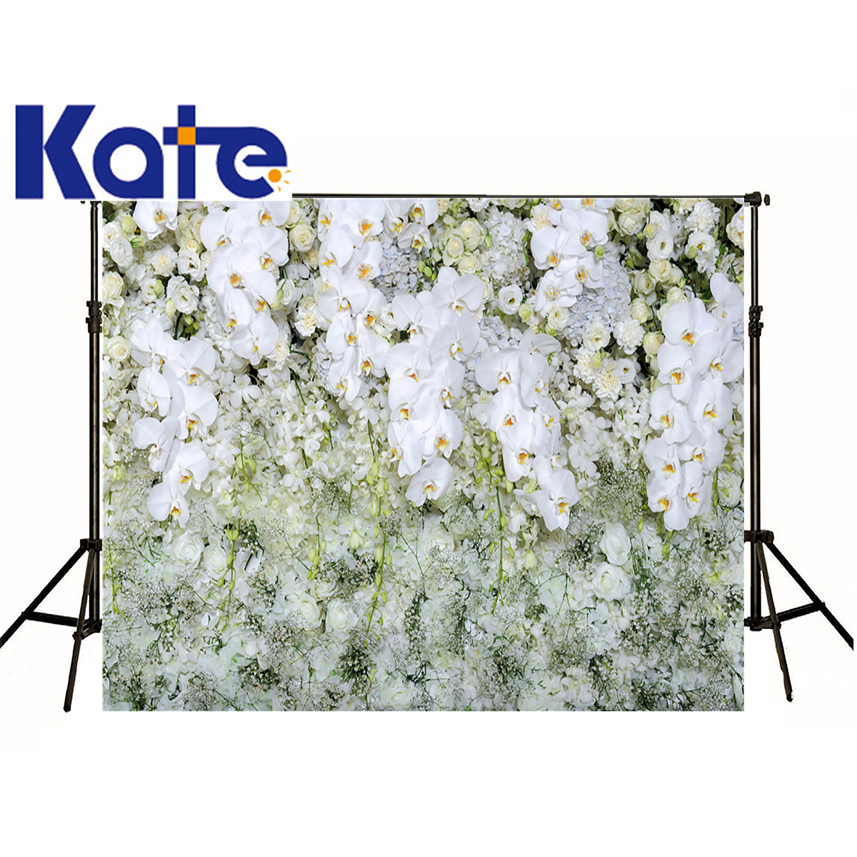 KATE Toile de Fond Photographique Fond Blanc Fleurs Mur Printemps Fond De Mariage Backdeops Paysage Fond Pour Studio