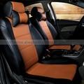 Novo estilo de luxo dedicado parte dianteira & parte traseira do carro assento de carro de couro cobre-cobre para mitsubishi lancer asx outlander pajero galant