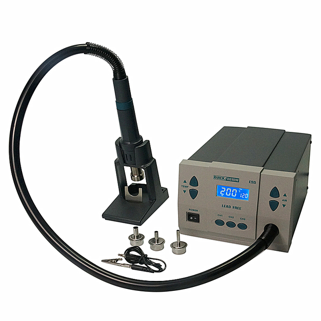 Free duty to Russian! QUICK 861DW Hot Air gun Rework soldering station for IC chip mobile phone repair