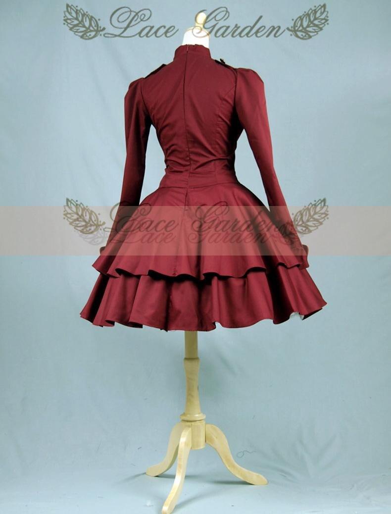 De Princesse Robe 18e Automne Vintage Dress Nouveau Gothique Siècle 2015 Bal Victorienne Femmes Londres Manches Longues HIb2YWEeD9