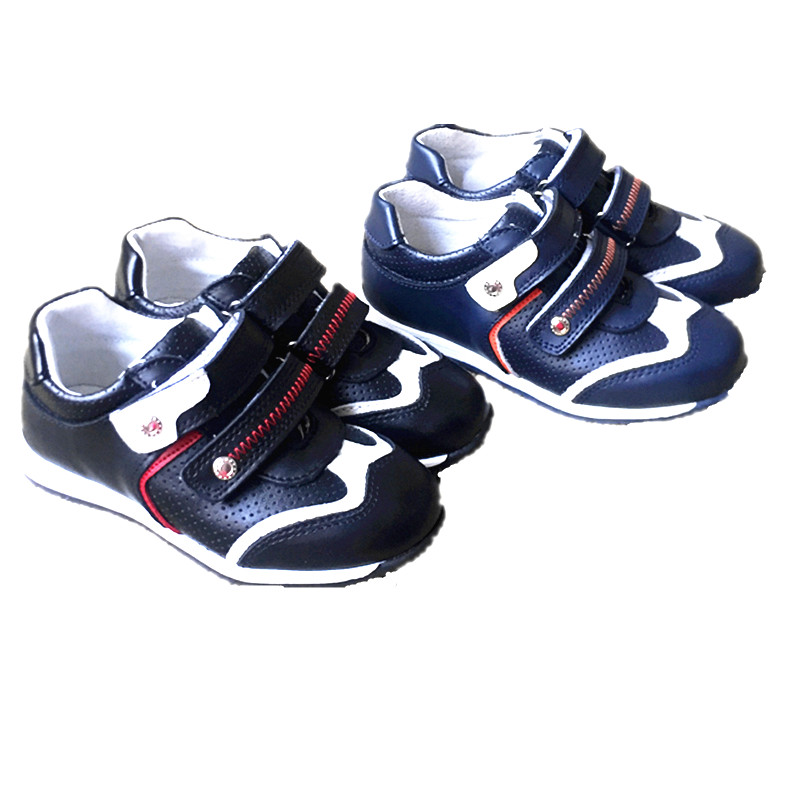New 1pair Orthopedic BOY Genuine Leather Sneaker Children Shoes+inner 17.5-21cm, kids Fashion Shoes