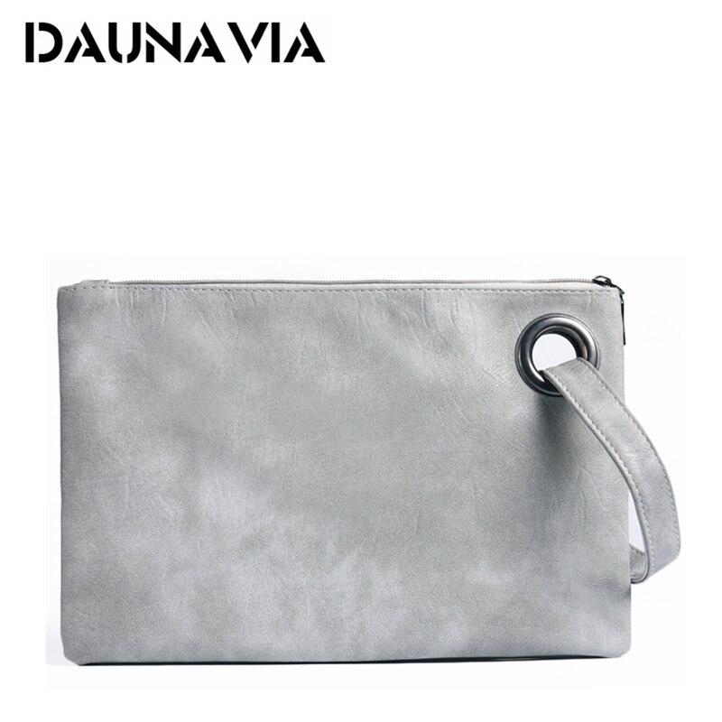 DAUNAVIA fashion women's clutch bag PU leather women envelope messenger bags clutch evening bag for female Clutches Handbags(China)