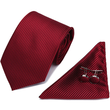 Tie Set Brand Men's Ties Causal Jacquard Woven Ties for Men Handkerchief Cufflink Business High-grade wedding Gift Necktie new brand men ties causal jacquard woven ties for men high grade gift box sets necktie handkerchief cufflink business tie set