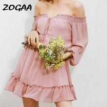 Женское шифоновое мини платье zogaa летнее пляжное в стиле бохо