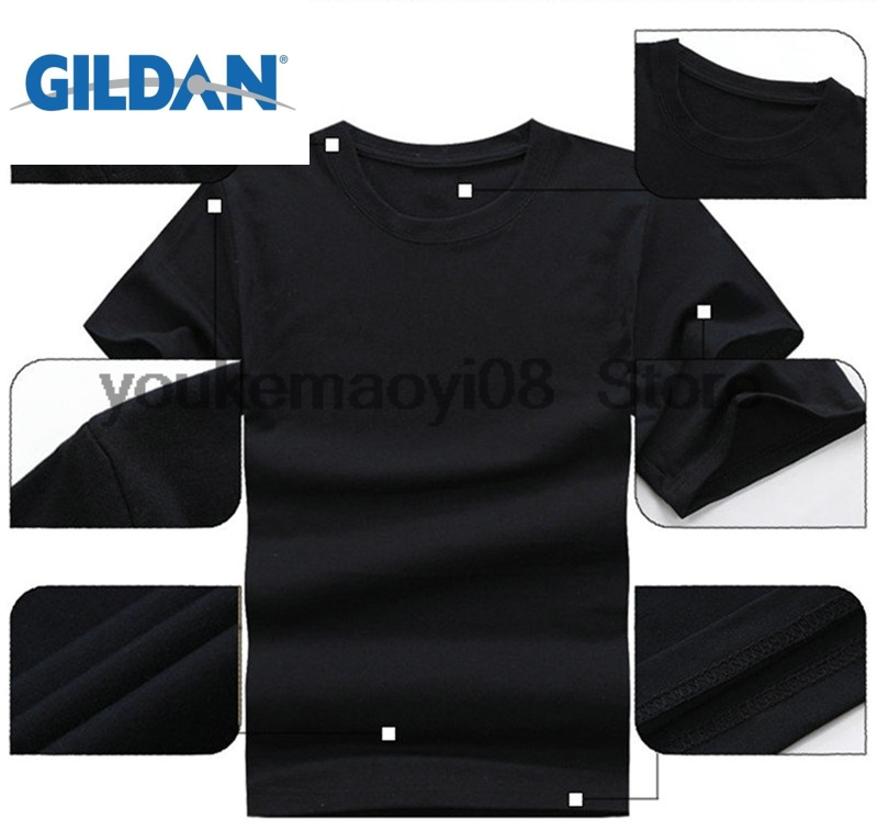 GILDAN cotton printed O-neck T-shirt All men are created equal autism auntie