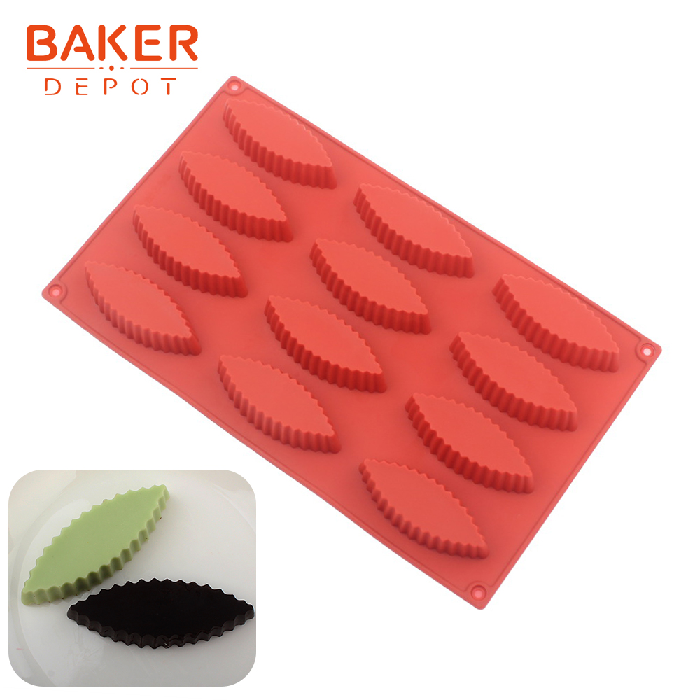 <font><b>BAKER</b></font> <font><b>DEPOT</b></font> silicone mold for cake baking 12 hole chocolate bread form cake decoration tool pudding jelly handmade soap mould image