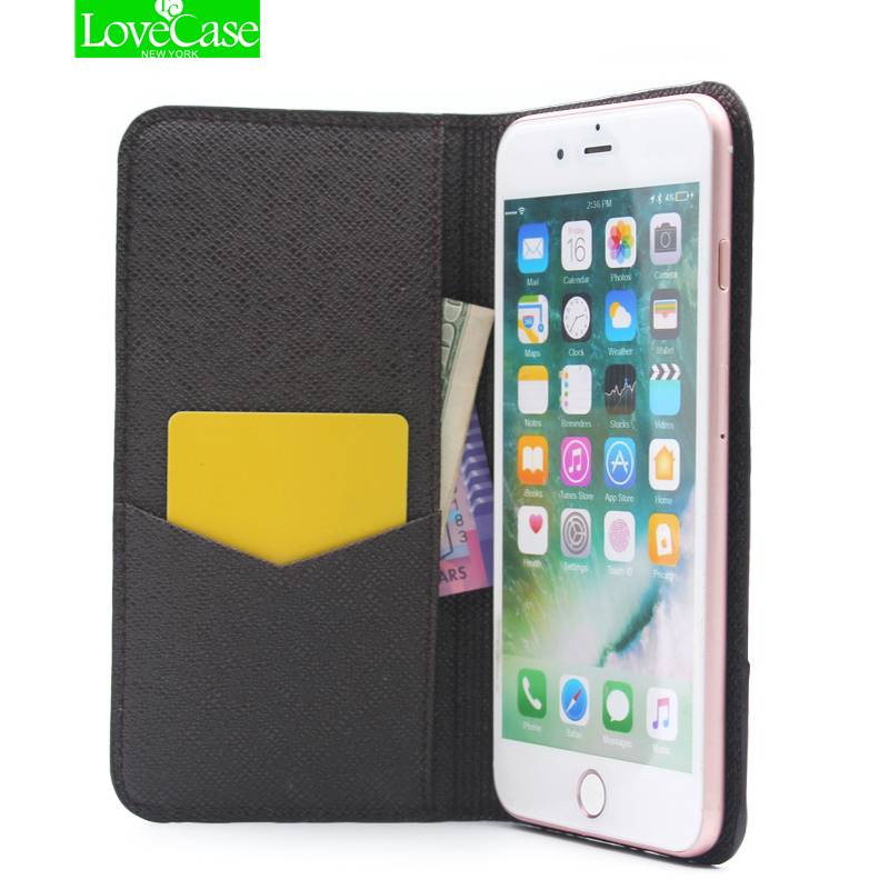 For iphone X 7 Retro Style PU Leather Flip Phone Case for Apple iPhone 7 8 plus ultrathin Wallet Style Luxury Folio Case Cover