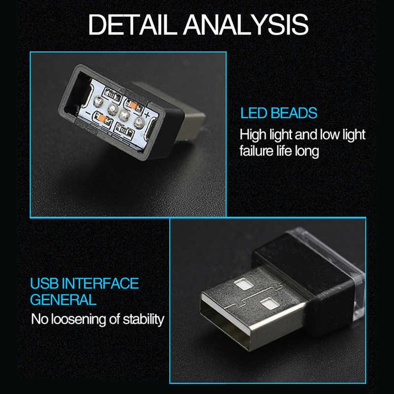 NEW HOT Car Mini USB HA CONDOTTO LA Lampada Atmosfera per BMW E46 E39 E38 E90 E60 E36 F30 F30 E34 F10 f20 E92 E38 E91 E53 E70 X5 X3 X6 M M3