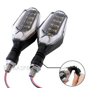 Image 2 - 2 قطعة دراجة نارية بدوره إشارات LED أضواء وامض العالمي مقاوم للماء الذيل ضوء الوامض الفرامل وقف مصباح إشارة ل MSX 125