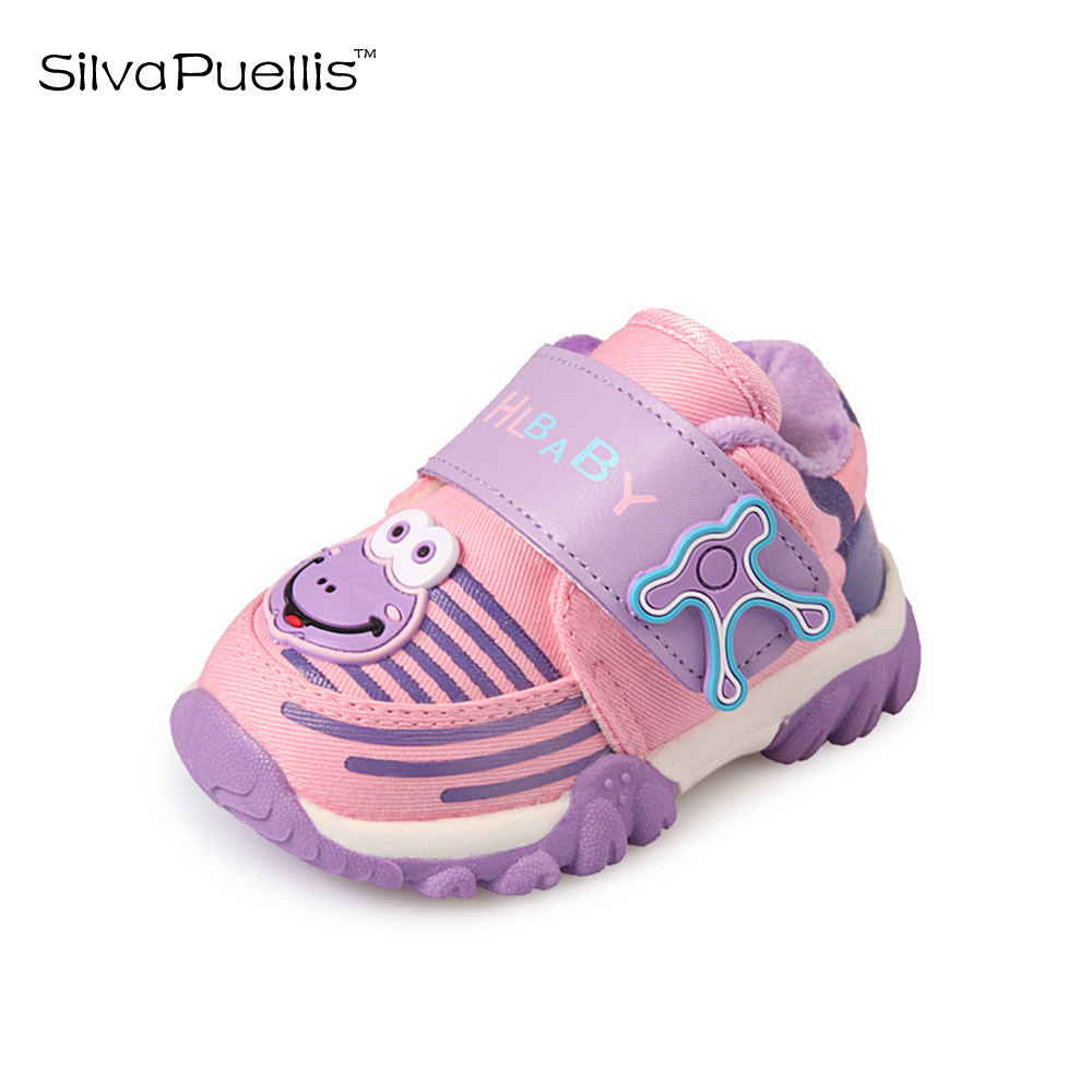 SilvaPuellis Children 's Shoes 2018 New Boys Cotton Shoes Boys And Girls Casual Shoes Cartoon Girls Shoes Warm Children' s Shoes 2016 winter new soft bottom solid color baby shoes for little boys and girls plus velvet warm baby toddler shoes free shipping
