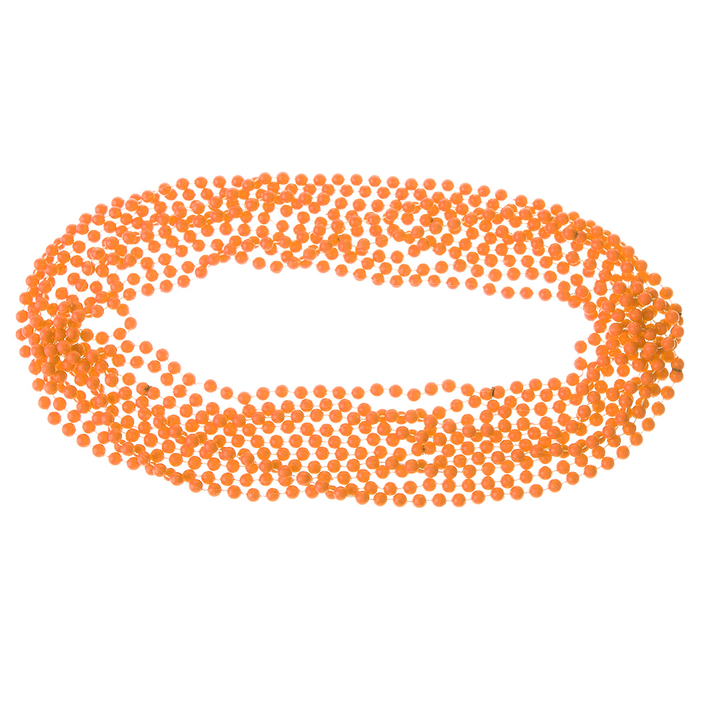 Neon Beads NECKLACE 80s Costume Accessory Bright Rave Fancy Dress 4 Pc Bead
