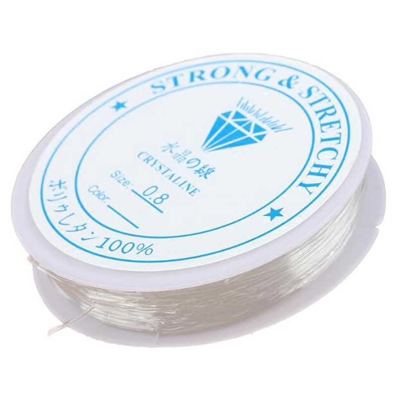 0.4mm 0.5mm 0.6mm 0.7mm 0.8mm 1mm 1.2mm kryształ elastyczny frezowanie Cord String wątek biżuteria znalezienie DIY moda naszyjnik bransoletka