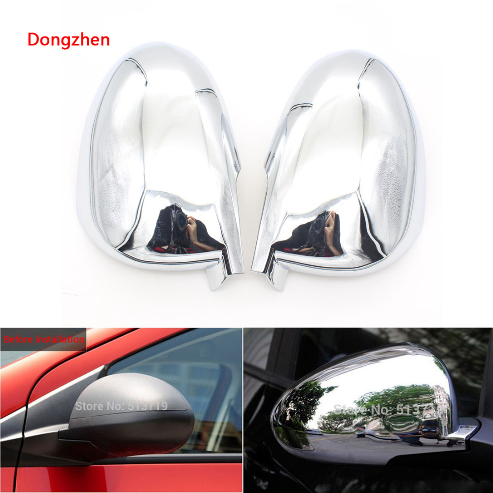 Dongzhen 2X Exterior Accessories Car Side Mirror Cover Rear View Mirror For Chevrolet AVEO Hatchback 2011 2012 2013 ABS Chrome
