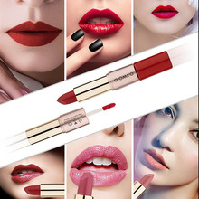 O 2 in 1 Velvet Matte Lipstick & Lipgloss Makeup Cosmetics Set Long-lasting Waterproof Lip Gloss Rouge Kit 12Colors