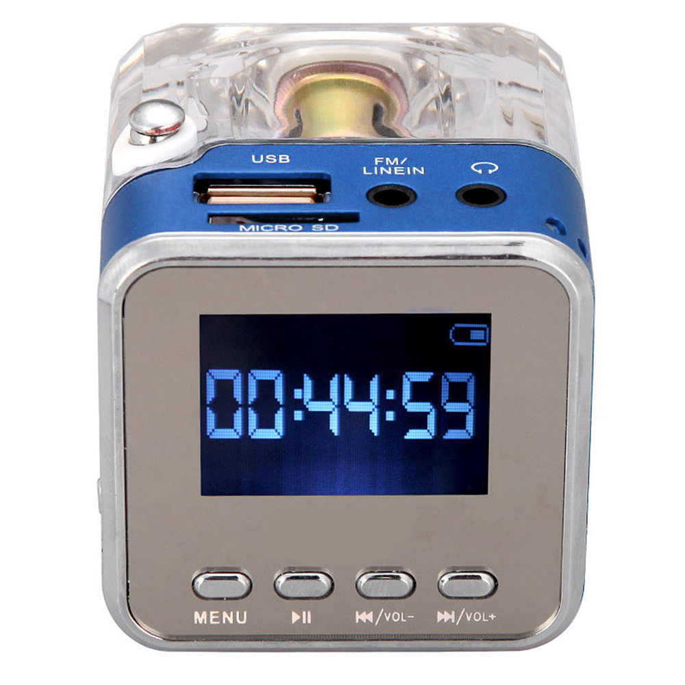 Mini Portable Music MP3 Player FM Radio TF USB Disk Stereo Speaker Xmas Gift portable rechargeable micro sd tf mini usb led speaker music player fm radio stereo