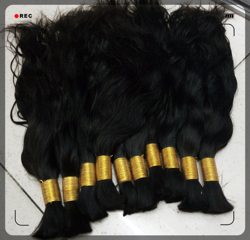 Natural Wave 100% Virgin Human Hair Bulk #1B Straight Hair Bulk for Braiding Cabelo Humano Natural Cacheado
