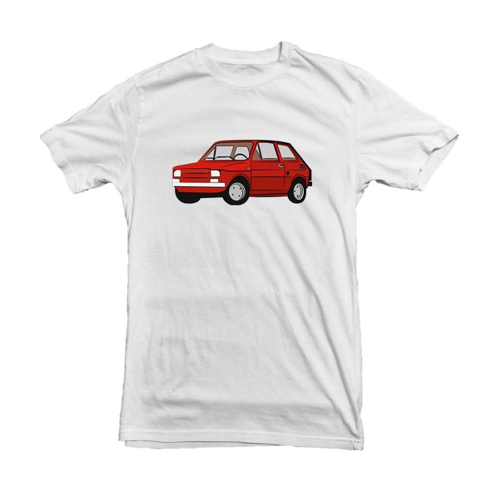 T-Shirt męski 2019 najnowszy Fiat 126 lakier do samochodu Polski Maluch biały szary T-shirt na prezent-t-shirty