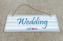 A lovely personalized Outdoor Wedding Reception & Ceremony Sign