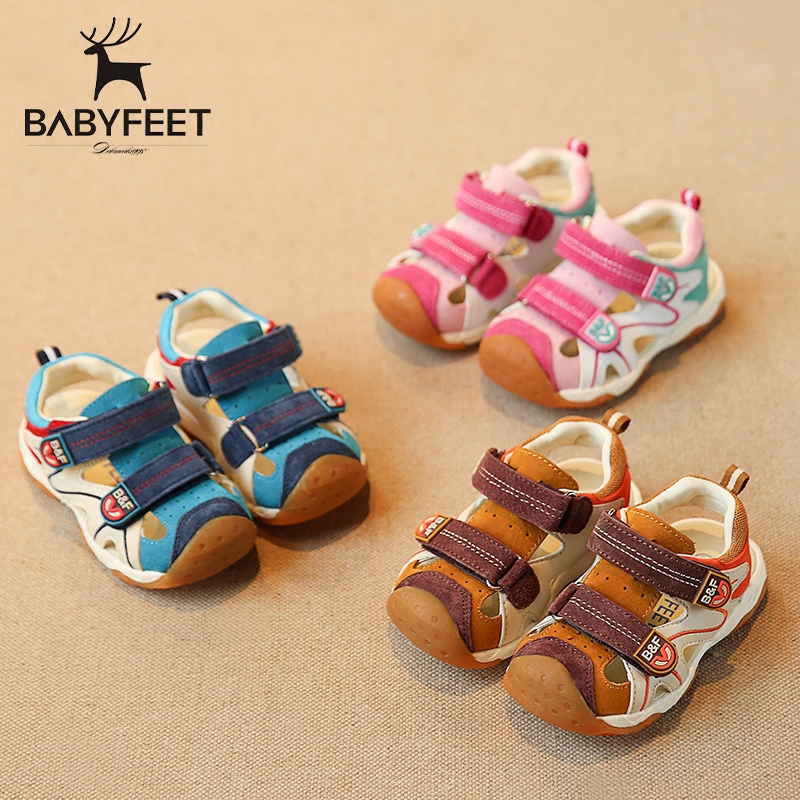 Babyfeet Functional Sandal 2017 New Arrival Boys closed toe Sandals Children shoes Little baby girl boy Toddler Kids beach kids babyfeet newborn baby boy shoes toddler sandals leather non slip kids shoes 0 1 years old boy girl children infant infantile