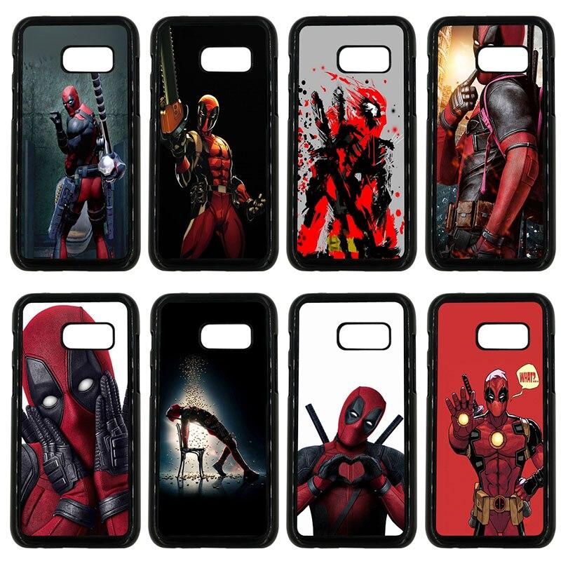 Cute Deadpool Fun Art Cell Phone Case Hard Plastic Cover for Samsung Galaxy A3 A5 A7 A8 2015 2016 2017 2018 Note 8 7 5 3 Shell
