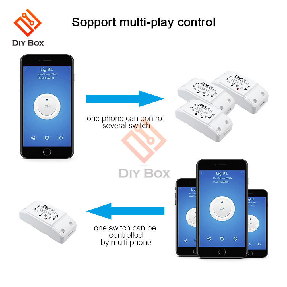 Sonoff Universal Wifi Wireless Smart Switch Module App Remote Control Timer  DIY Kit for Home Automation 10A AC 110V 220V