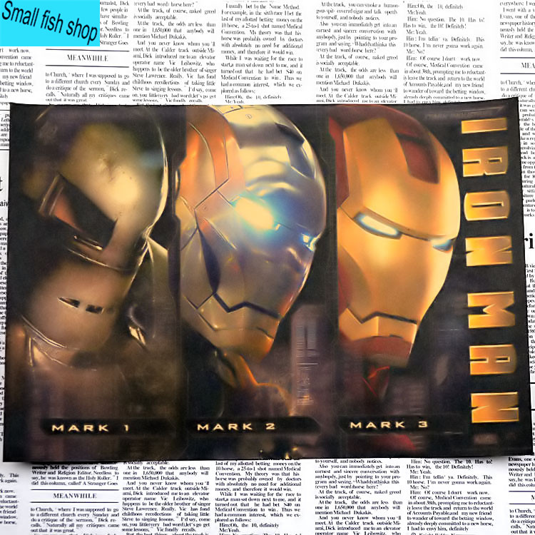Iron Man1 2 3 Retro Movie Poster Үйге арналған жиһаз - Үйдің декоры - фото 6