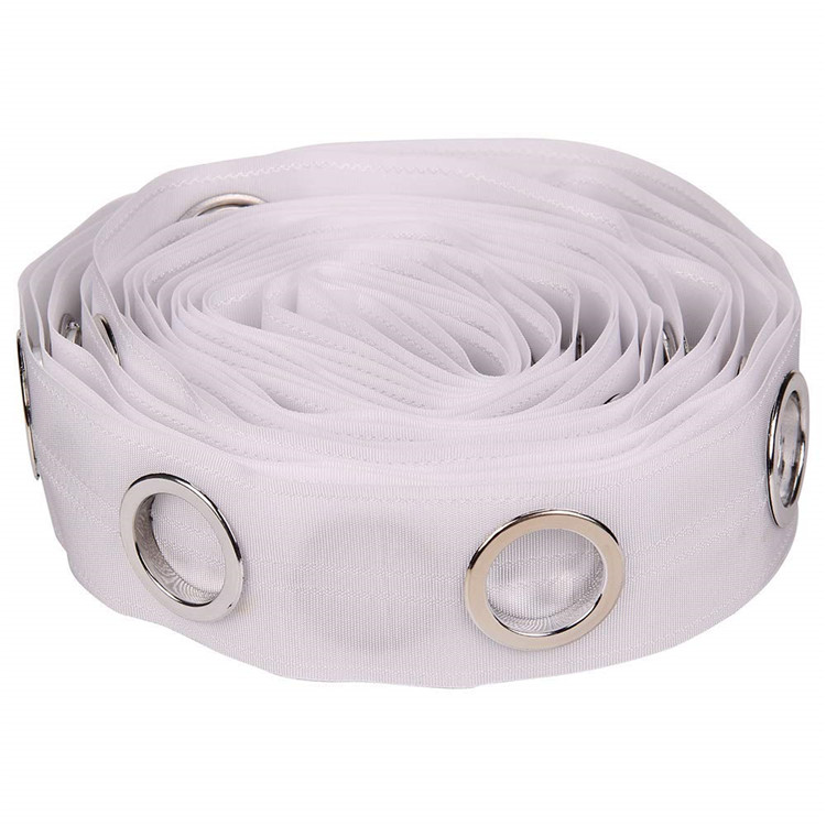 36Meter ROLL wholesale white polyester curtain eyelet ring tape for curtain tape with eyelets