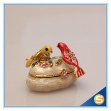 2 Birds Wedding Gifts jewelry box Crystal Studded Wedding Trinket Box Bejeweled Ring Display Box