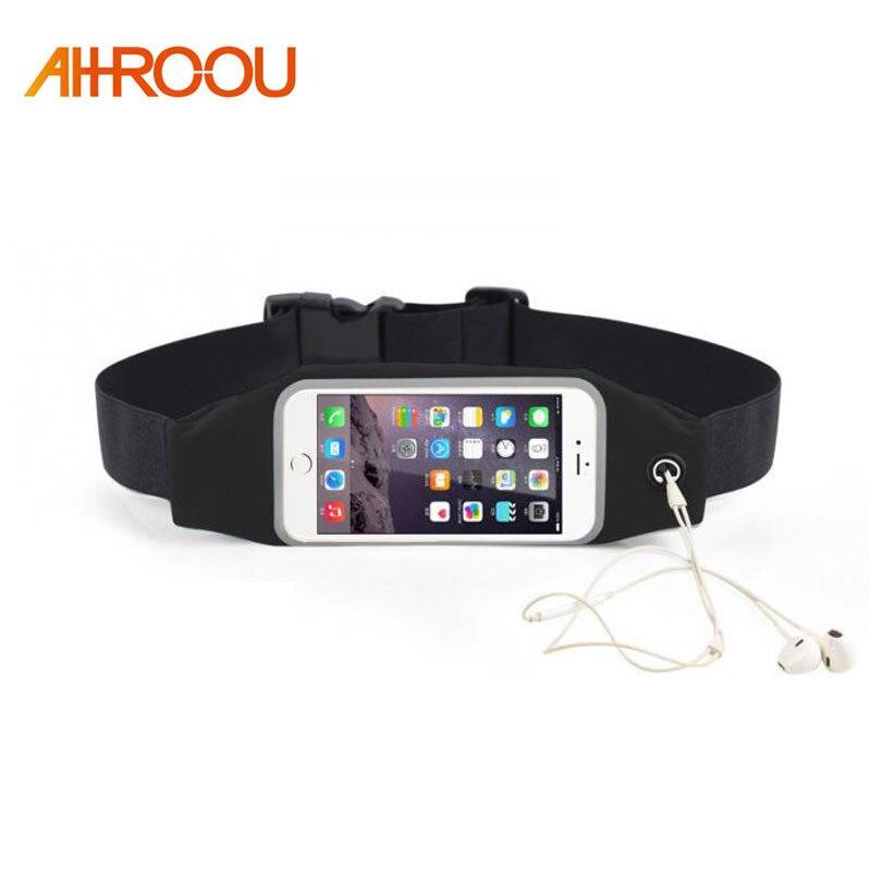 Women Men Waist bag Sport Waist Bag Screen Touching Waterproof Running Belt Pouch Mobile Phone Holder for Phone 4-5.3 5.5 6