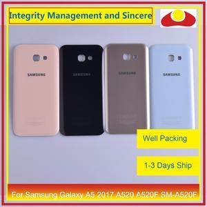 Image 1 - מקורי עבור Samsung Galaxy A5 2017 A520 A520F SM A520F שיכון סוללה דלת אחורי כיסוי אחורי מקרה מארז פגז החלפה