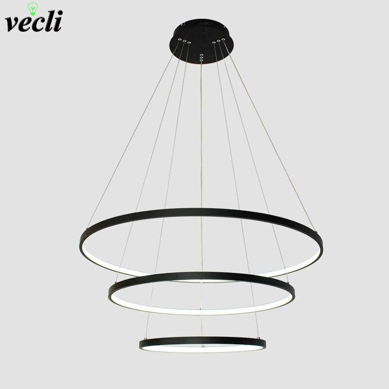 Modern LED chandelier lights dinning room living room Chandelier acrylic Home Lighting Indoor Lamp AC85-265V circle