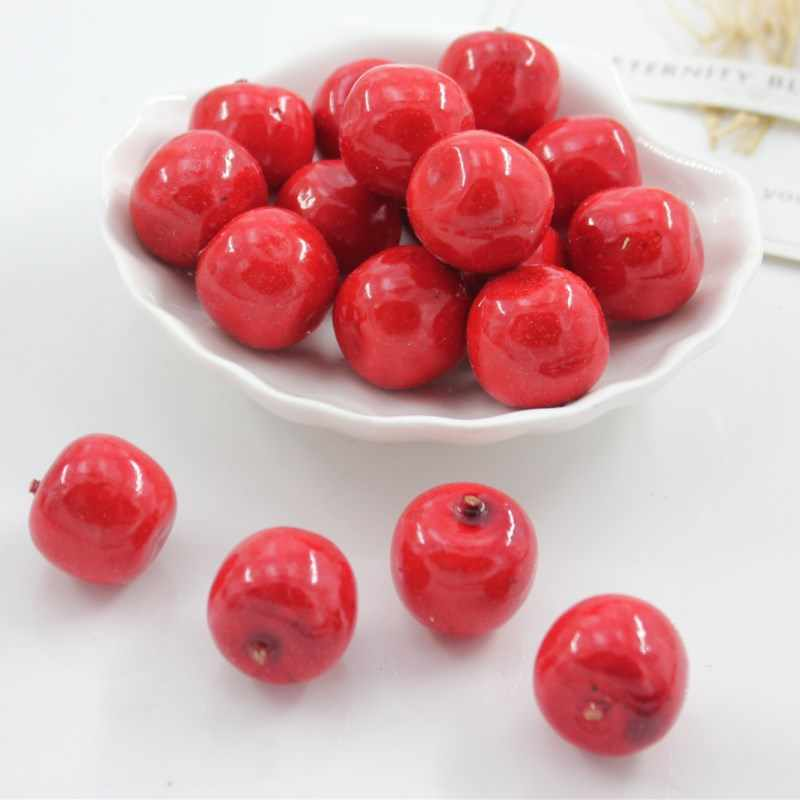 10 pcs simulatie model van mini kunstmatige vruchten en groenten decoratieve Simulatie fruit compote rode apple Ongeveer 2 cm