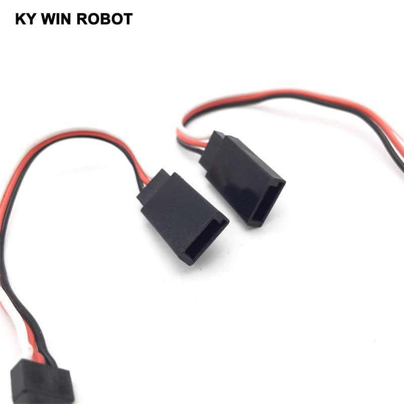 1 sztuk 100mm 10 cm męski na żeński przedłużacz serwo przewód zasilający kabel do JR serwo części