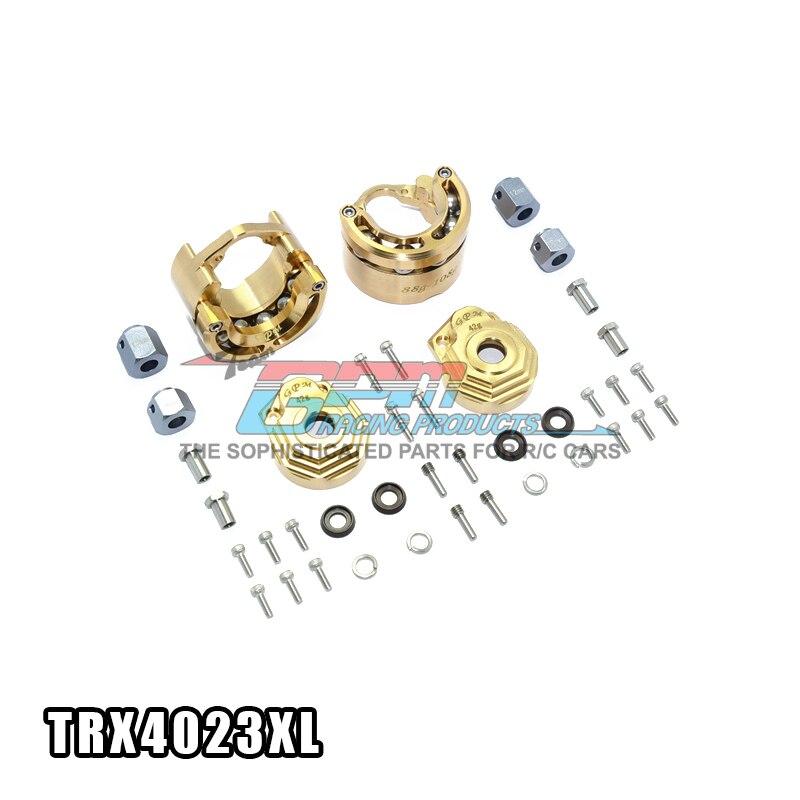 TRAXXAS TRX-4 82056-4 Full Metal Copper Highest Quality Weight Group Combine - Set TRX4023XL traxxas trx 4 trx4 82056 4 pure copper pendulum wheels knuckle axle rotary type weight 21mm hex adapter set trx4023xx