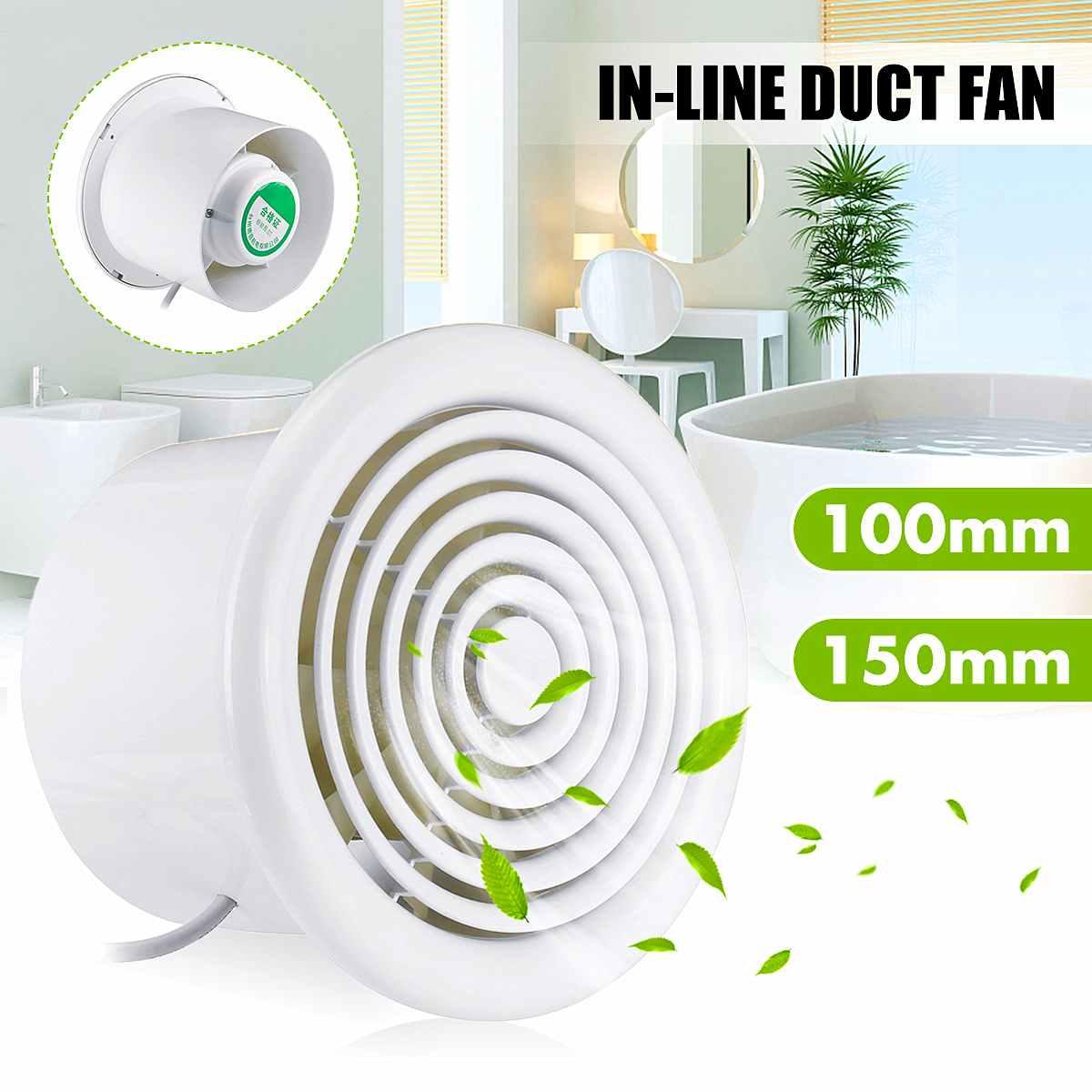 12W/18W Ventilator De Techo Household Bathroom Kitchen Bedroom Toilet Low Noise 220V Hotel Wall Silent Ventilation Extractor Fan