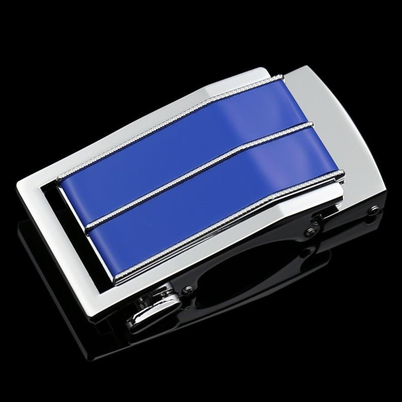 New Amazing Stripes Design Fashionable Multi Style Belt Buckle Belt Men Automatic Belt Buckle Cowhide Men's LY1180-350