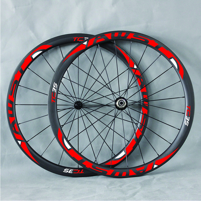 38mm Clincher Tubular Carbon Profile Road Wheelset 700C Bicycle Cycling Wheels with Novatec Powerway Hub 38/50/60/88 Rim carbon wheels 700c 25mm width 38mm clincher racing bicycle wheels road bike carbon wheelset clincher with powerway r51 hub