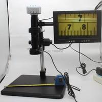 20 mill 1080P 60FPS HDMI USB Industrial Microscope Camera+200X C mount Lens+Fine Adjustment Bracket+LED light+HD 10 inch Monitor
