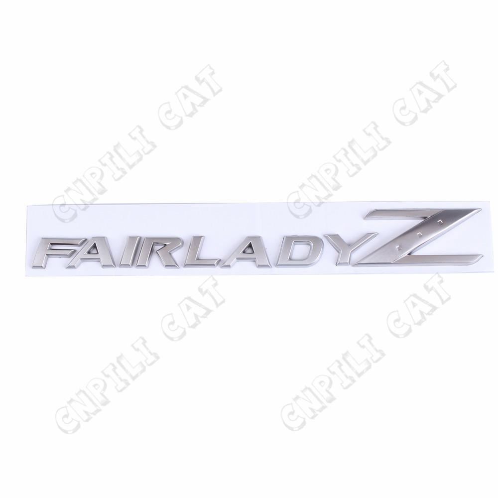 3D Matte Silver FAIRLADY Z Logo Car Body Alloy Emblem Stickers for NISSAN 350Z 370Z Z33 Z34 Z Series сумка samsonite z34 08021 z34 021 z34 08021 z34 04021
