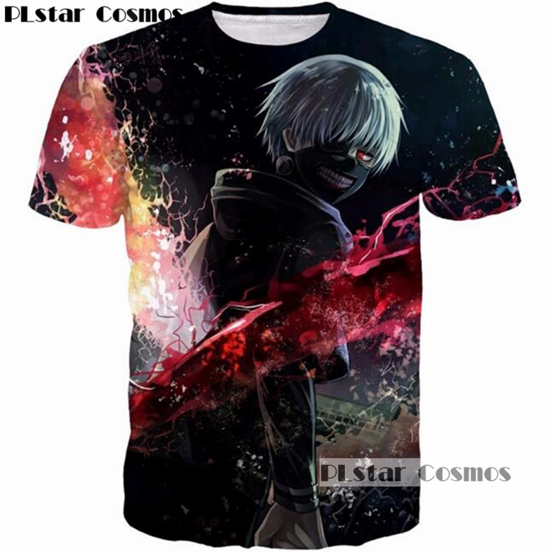 PLstar Cosmos Cool Design Classic Anime Tokyo Ghoul Harajuku 3D print O neck T shirt Tees Men/Women 90s T shirt tees tshirt 5XL-in T-Shirts from Men's Clothing & Accessories on Aliexpress.com | Alibaba Group