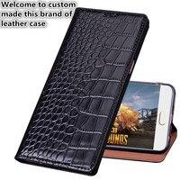 CJ12 Crocodile pattern natural leather flip case for Asus Zenfone 2 Laser ZE601KL phone cover for enfone 2 Laser ZE601KL case