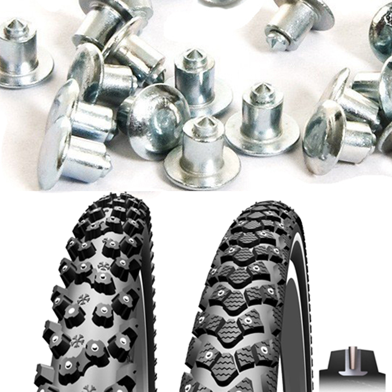300pcs 6 5mm 0 26inch Winter Studded Mountain Bike Spikes for Fat bike Mount Tyre Snow Studs Aluminum Tire Studs Sharp Carbide Tips