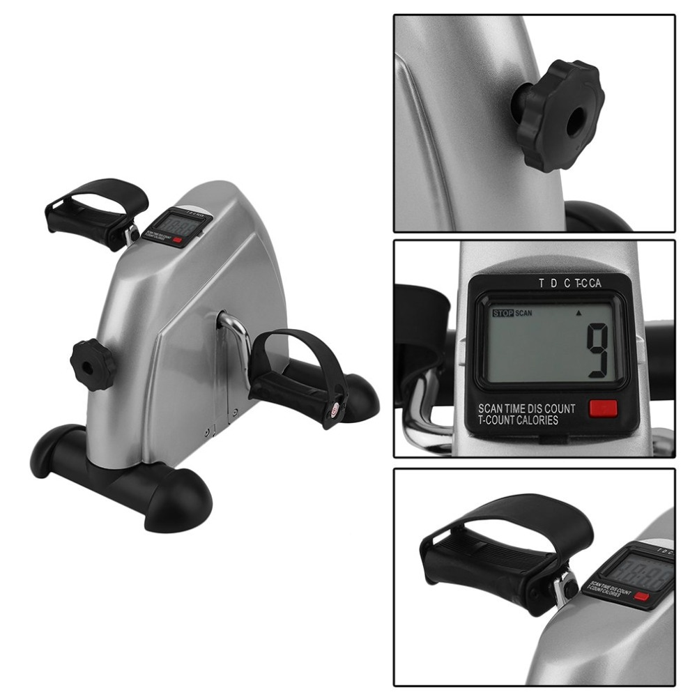 Home Exerciser Cycling Fitness Mini Pedal Exercise Bike LCD Display Indoor Cycling Bike Stepper For The Aged And Young mini trainer exerciser cycling fitness equippemnt pedal exercise bike indoor silent stepper with lcd display